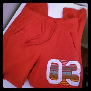 Mossimo Red Sweatpants 03 Design with Deep Pockets